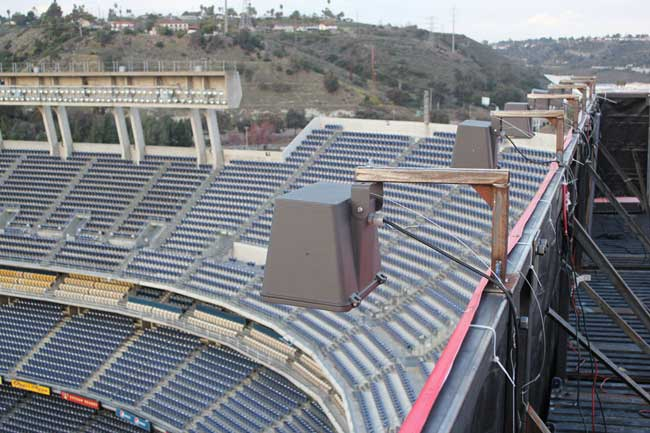 Qualcomm Stadium Banner Lights