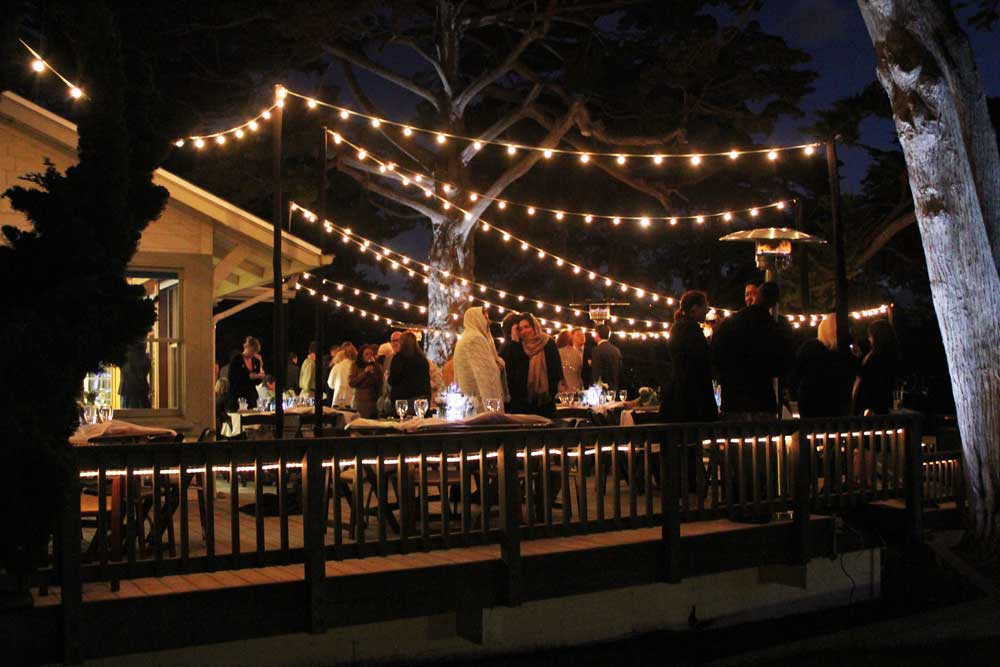 String Lights For Events : Martin Johnson House La Jolla, sparkled with Market String Lights and Foliage Uplights - SAN ...