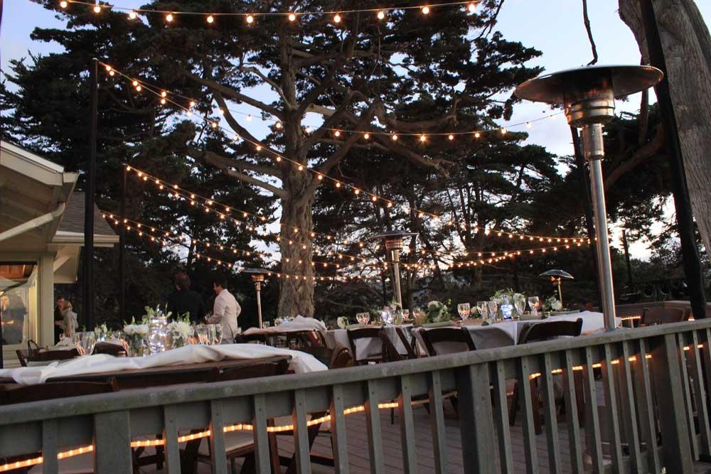 Martin Johnson House La Jolla, sparkled with Market String Lights and Foliage Uplights - SAN ...