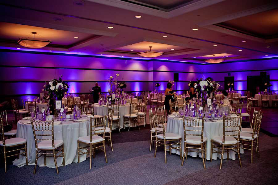 Mission Bay Hyatt Wedding Lighting Uplights