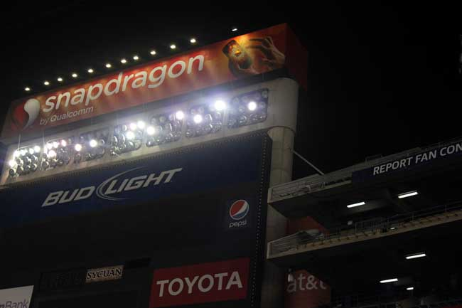 Snapdragon Stadium Lights by San Diego Events Lighting