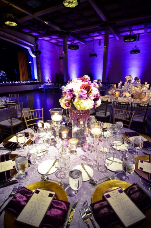 San Diego Wedding Lighting Prado Balboa Park Blue Uplights