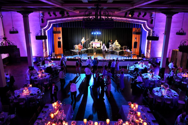 The Prado San Diego, Wedding Reception Lighting, Band Lights