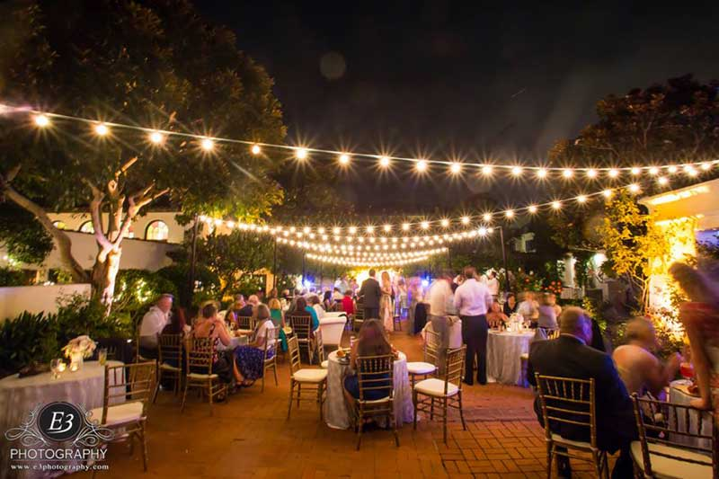 How Lighting Can Affect Your Wedding: Overhead Canopy Lights & Our String Lights Can Create An