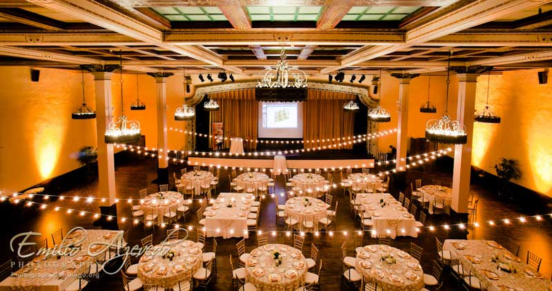 The Prado Wedding Lighting Specialists Market Lights Reception