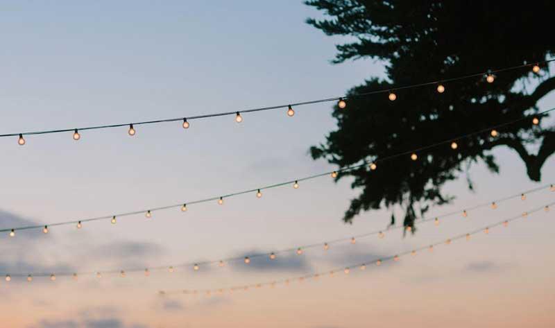 Martin Johnson House Wedding Lighting Market Lights