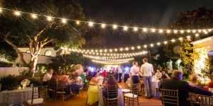 Darlington House Wedding Lighting | Market Lights | Uplights