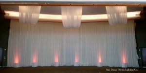 Backdrop with Ceiling Drapes, Scripps Seaside Forum