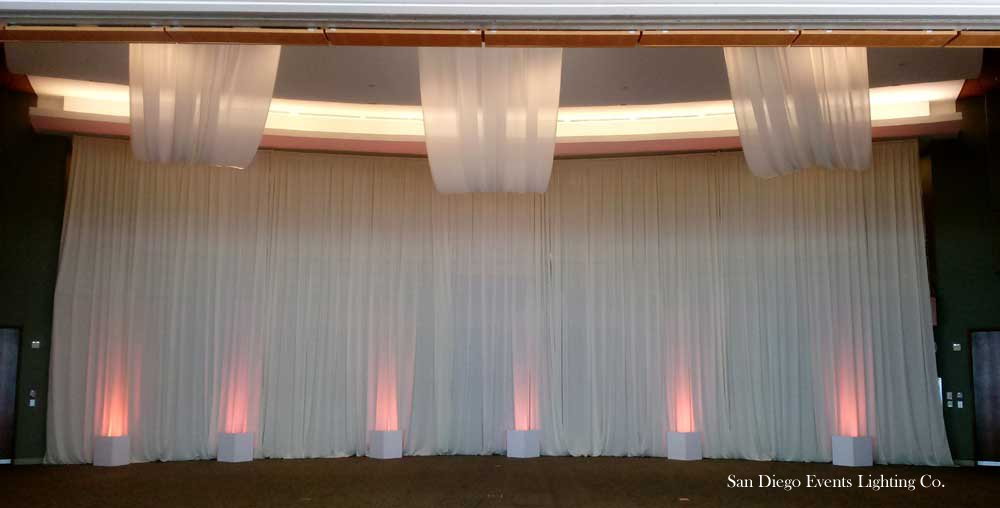 backdrop with ceiling drapes scripps seaside forum