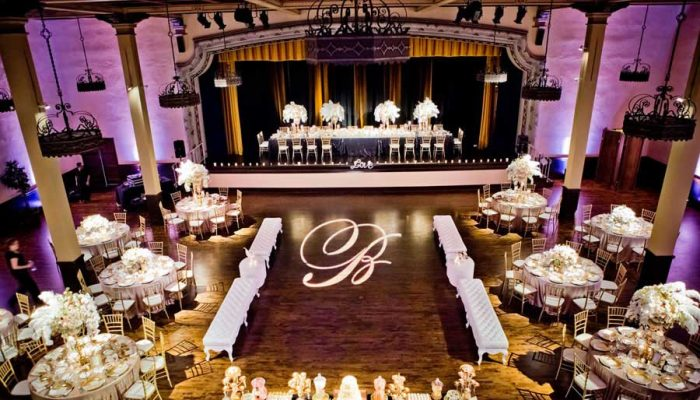 The Prado Grand Ballroom Wedding Reception Lighting